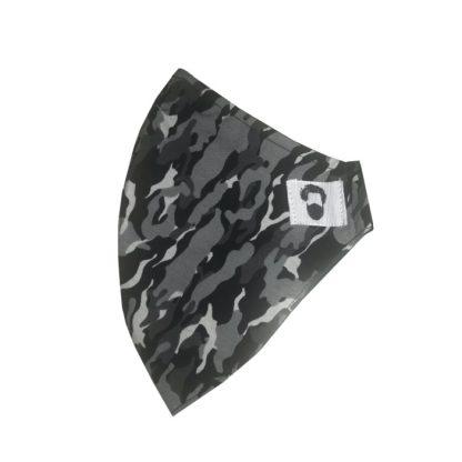 Mascarilla para barba de camuflaje, vista lateral